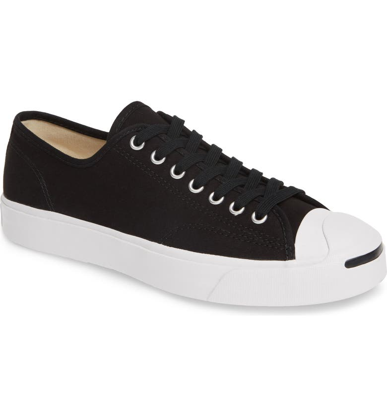 CONVERSE Jack Purcell Sneaker, Main, color, BLACK/ WHITE/ BLACK