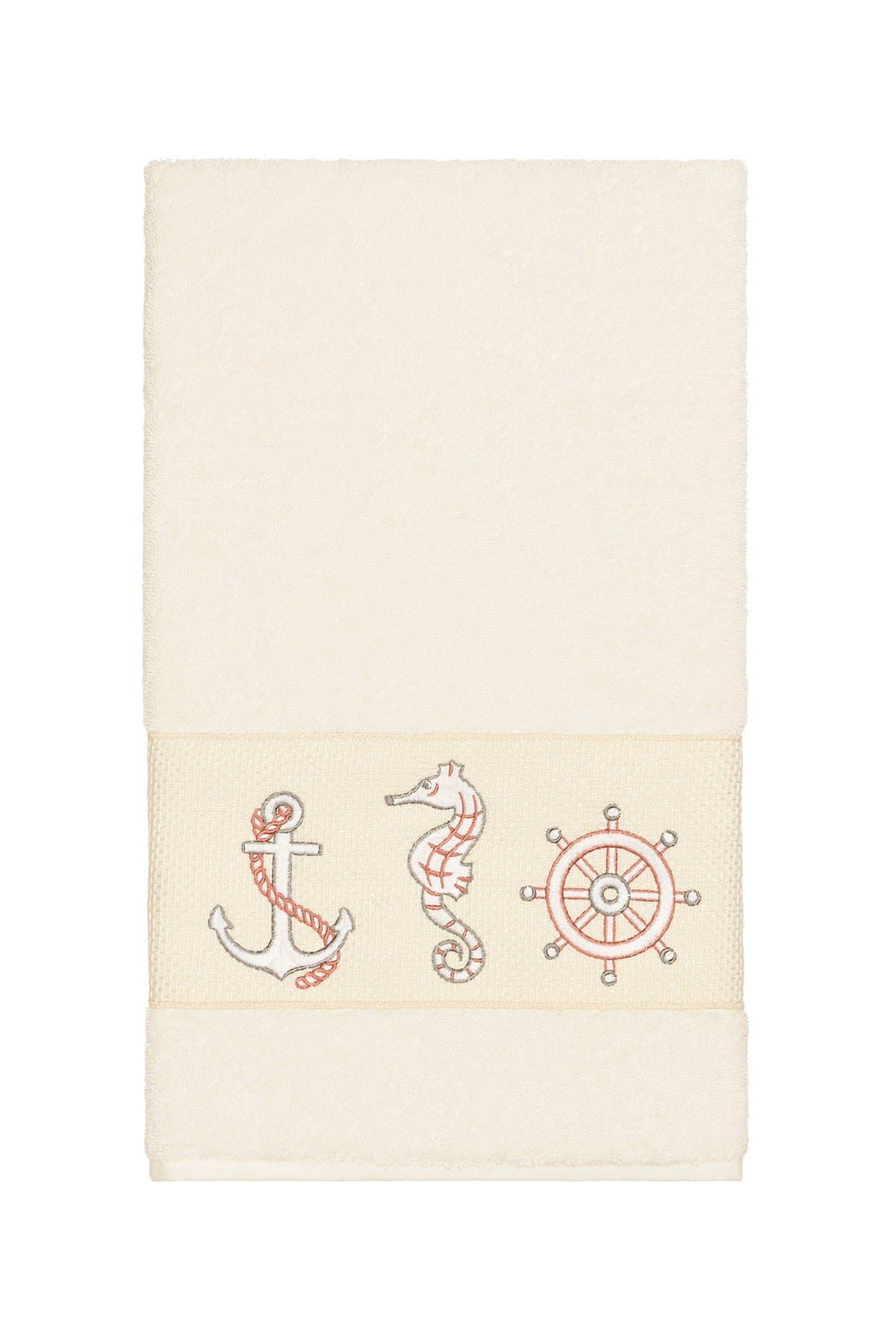 Image of LINUM HOME Easton 3-Piece Embellished Towel - Cream