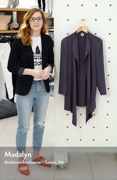 Drape Front Long Jacket, sales video thumbnail