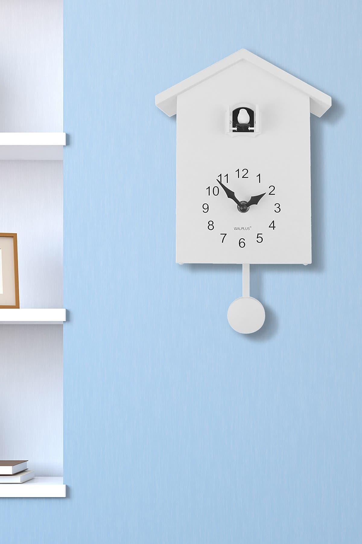 Image of WalPlus White Minimalist Cuckoo Clock