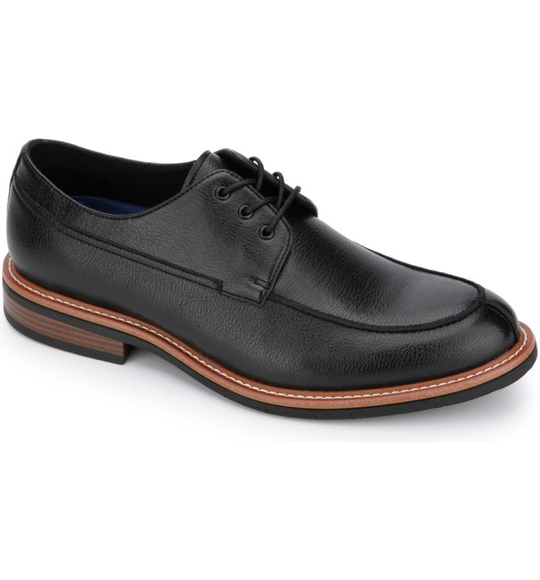 REACTION KENNETH COLE Kenneth Cole Reaction Klay Flex Split Toe Derby, Main, color, BLACK LEATHER