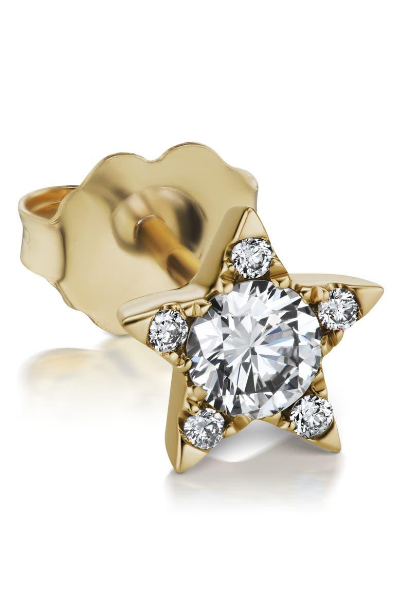 MARIA TASH Diamond Star Stud Earring, Main, color, YELLOW GOLD/ DIAMOND