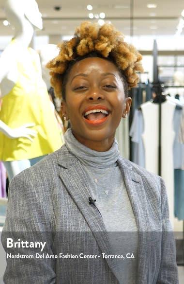 Shadow Stripe Tie Back Jumpsuit, sales video thumbnail