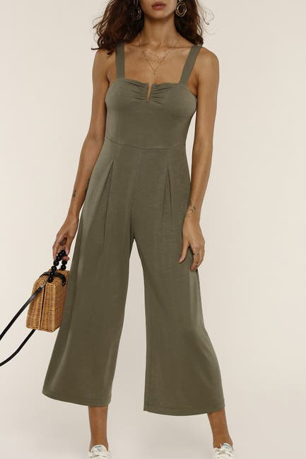 Image of Heartloom Lily Wide Crop Leg Jumpsuit