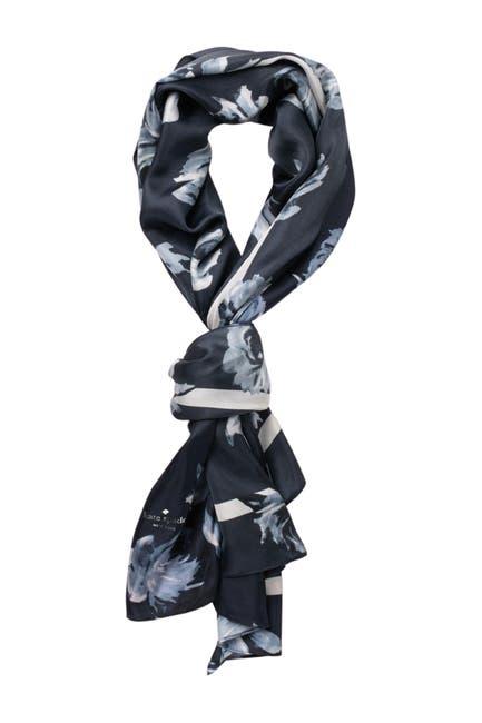 Image of kate spade new york night rose silk oblong scarf