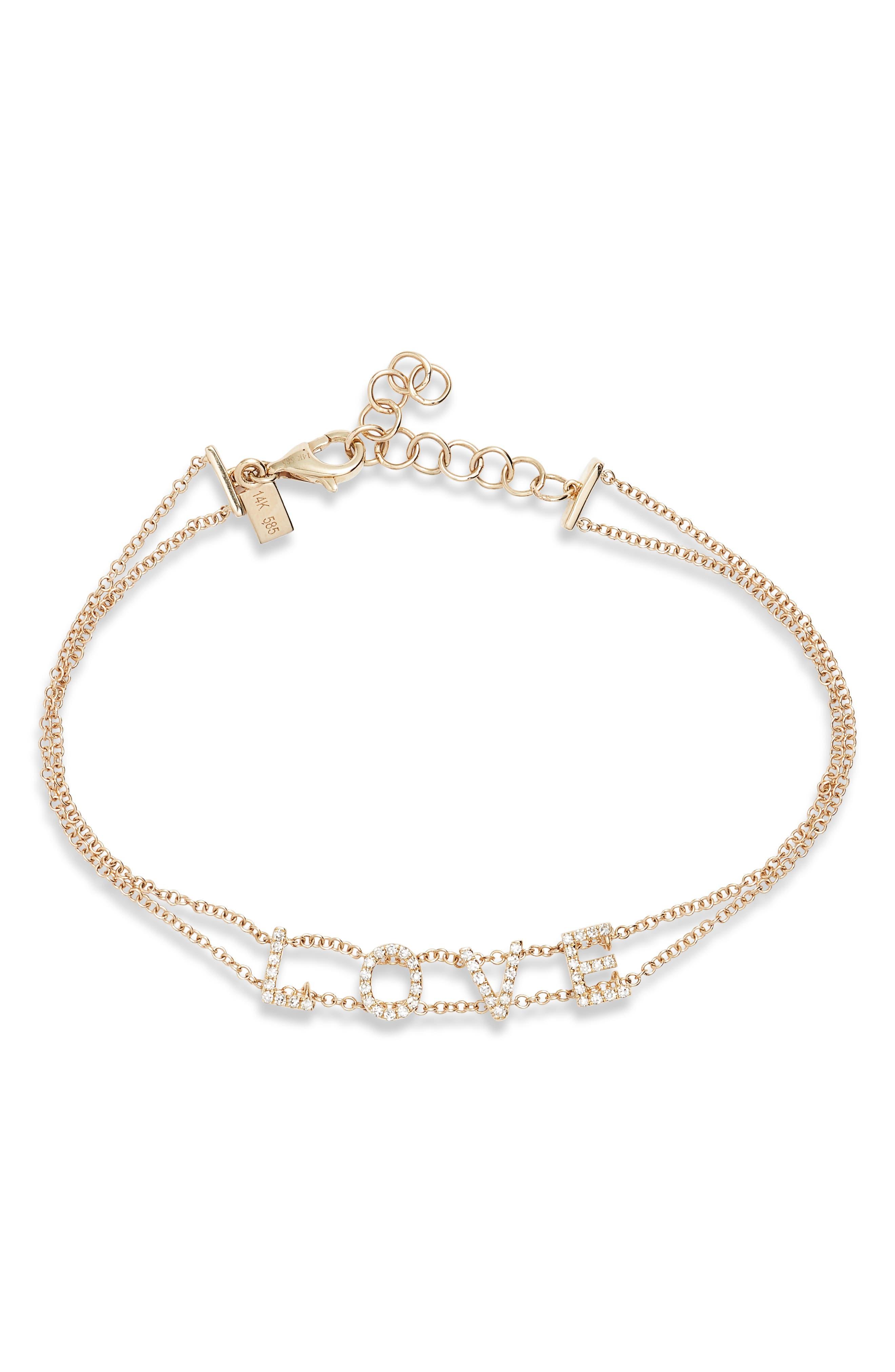 Love Diamond Bracelet, Main, color, YELLOW GOLD/ DIAMOND