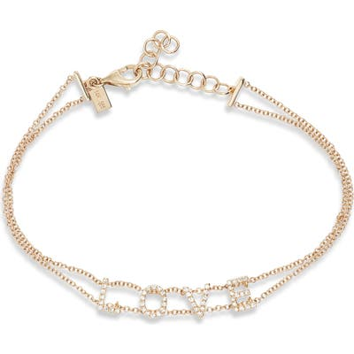 Ef Collection Love Diamond Bracelet