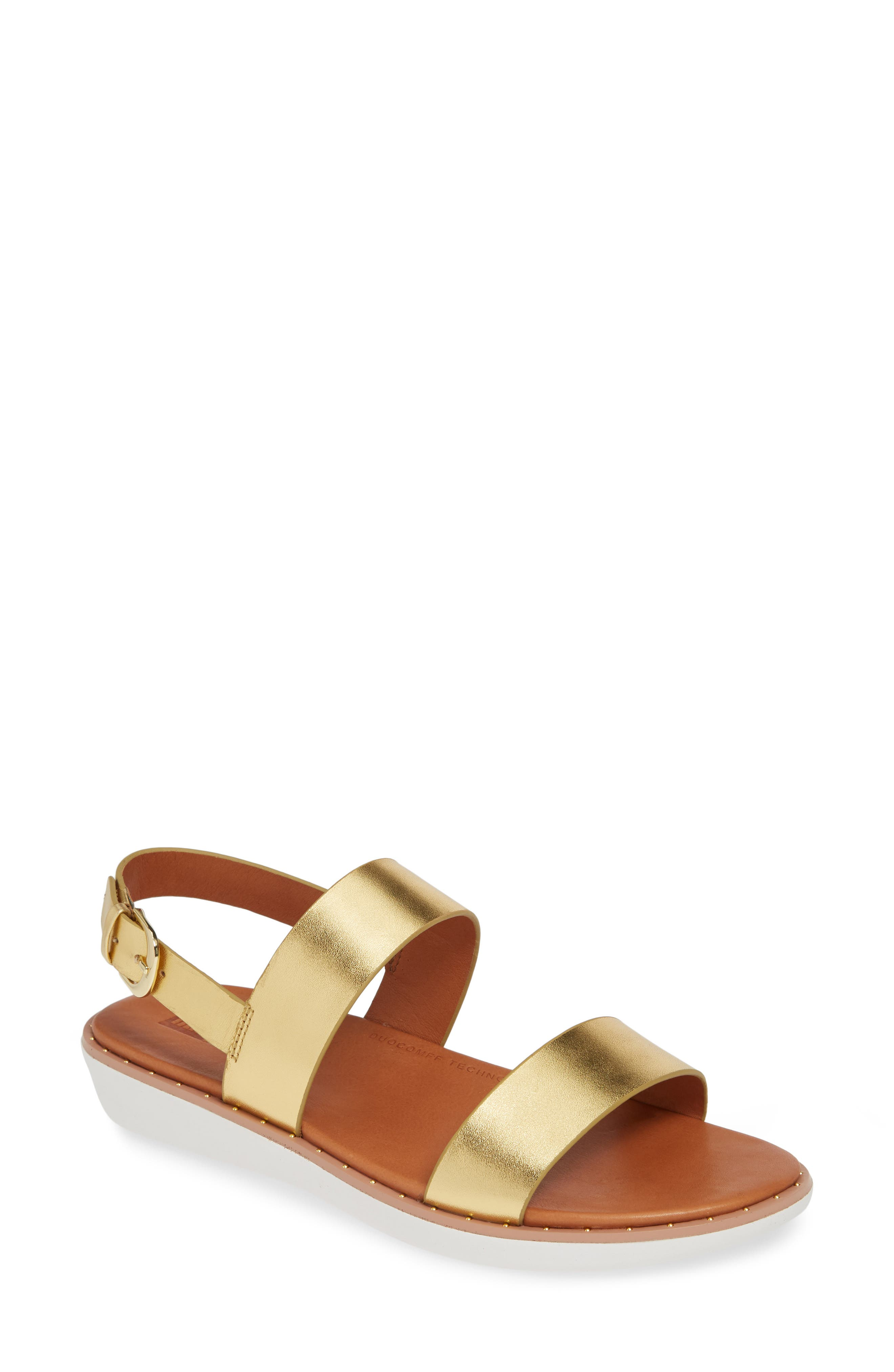 Fitflop Barra Crystalled Sandal, Metallic
