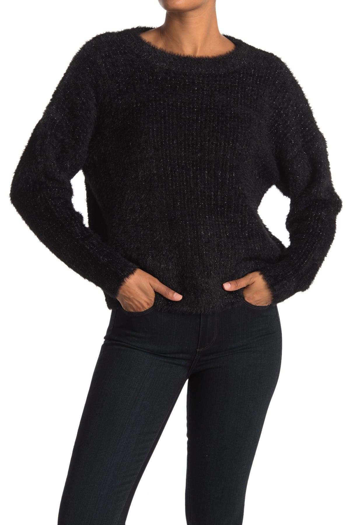 Image of FRNCH Cropped Crew Neck Sweater