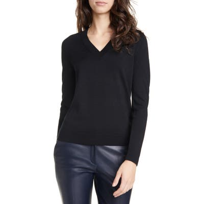Boss Fabrona Virgin Wool Sweater, Black