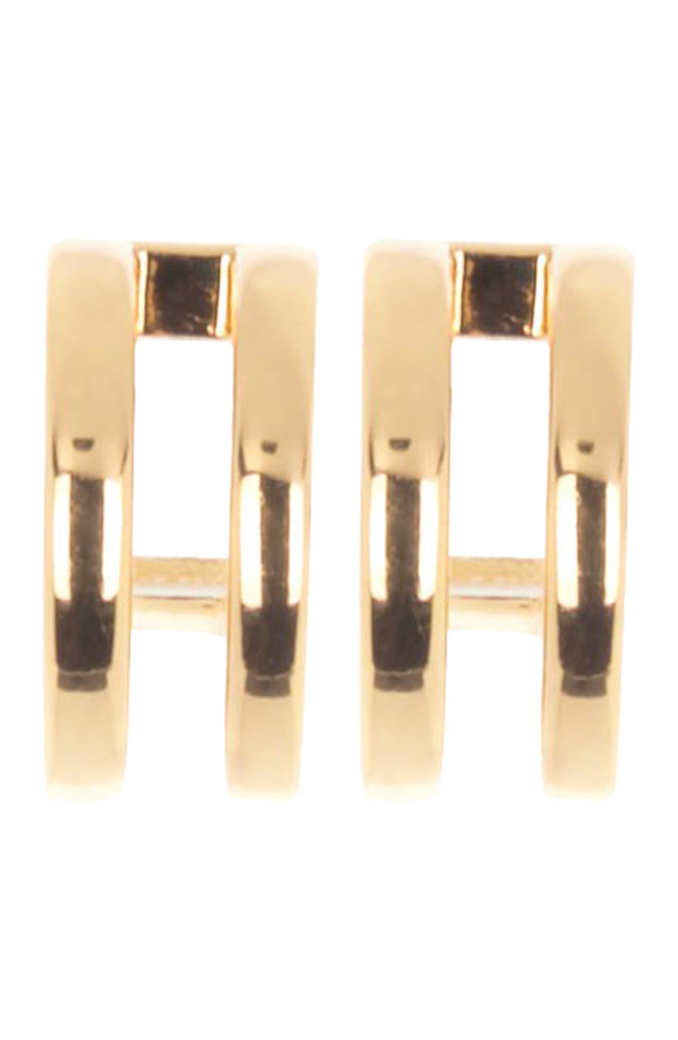 Image of Nordstrom Rack 11mm Double Bar Hoop Earrings