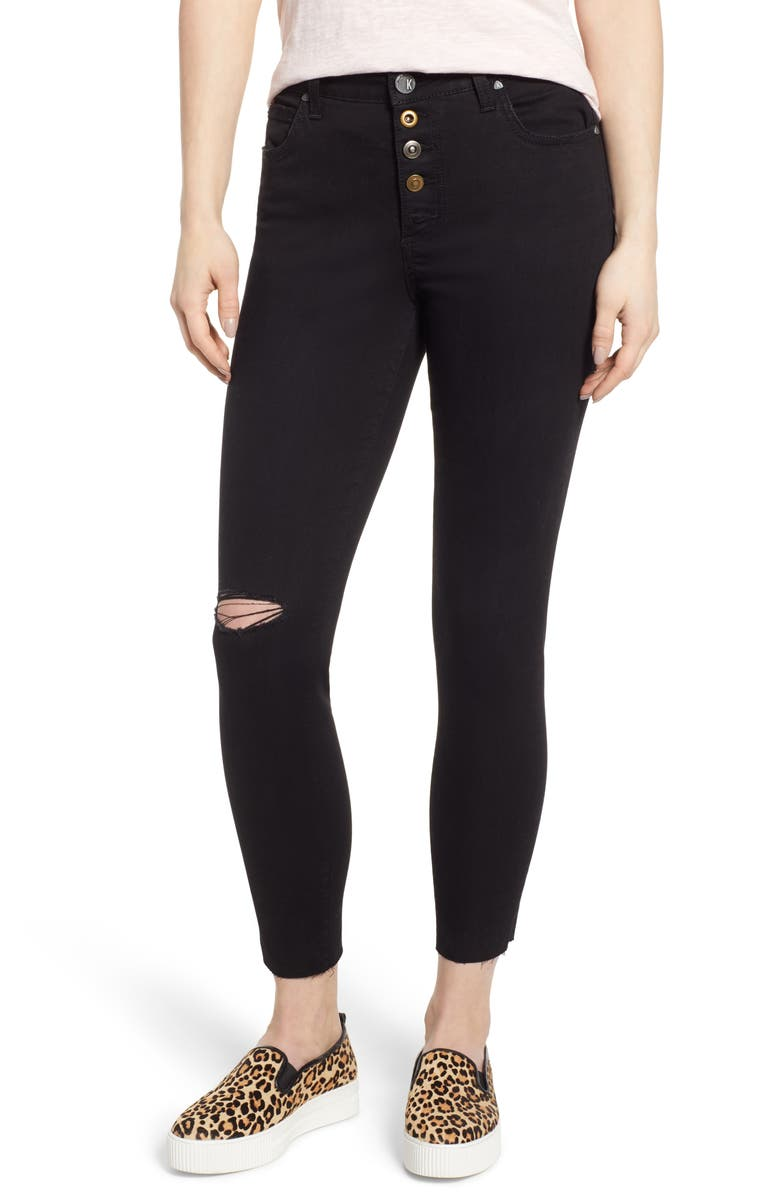 KUT FROM THE KLOTH Donna Ripped High Waist Ankle Skinny Jeans, Main, color, DEVELOPMENT