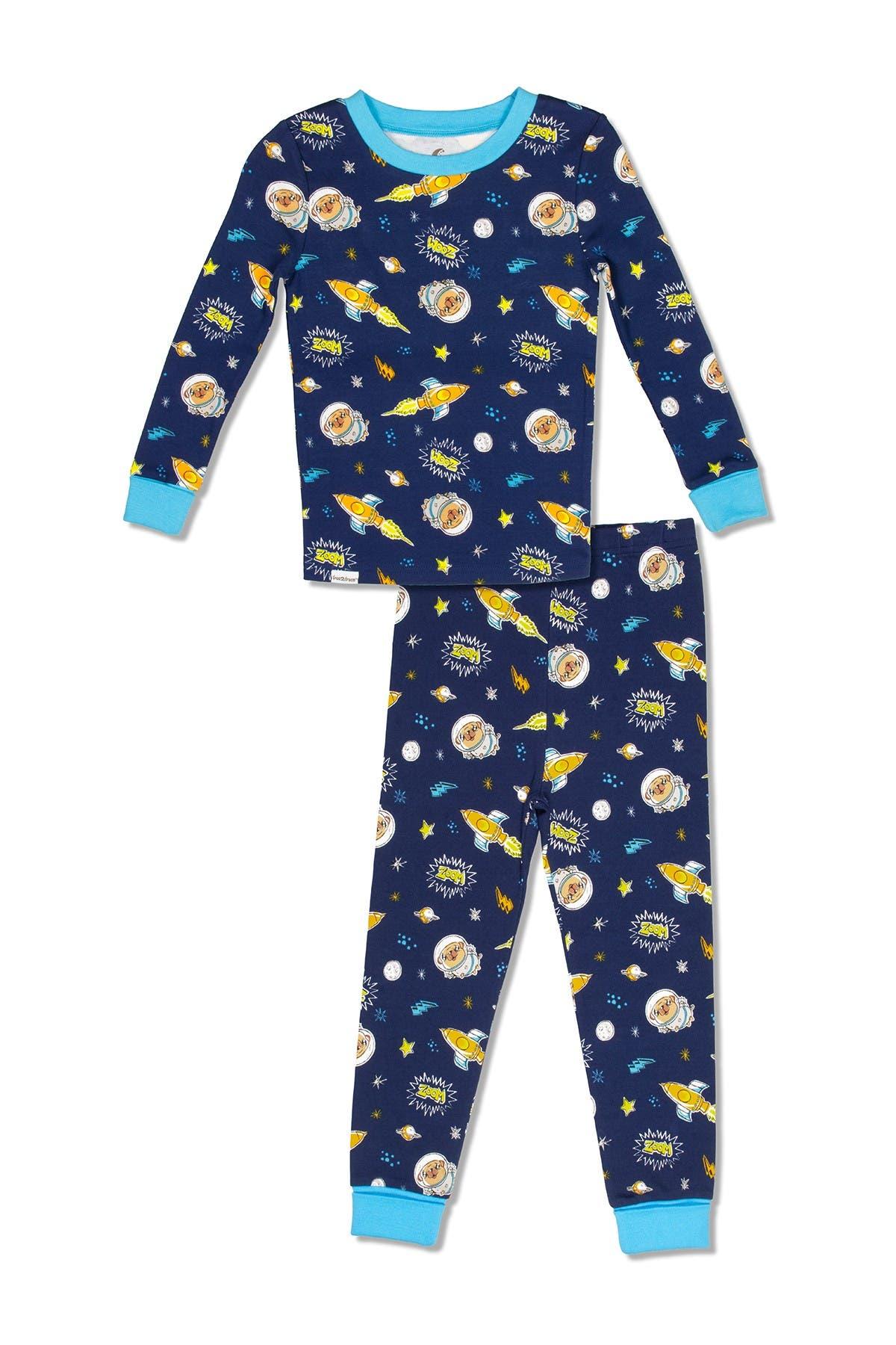 Image of SGI Apparel Free 2 Dream Space Print Pajama 2-Piece Set