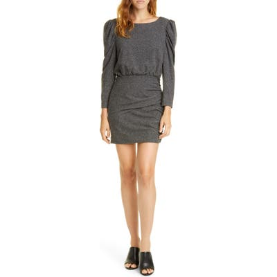 La Vie Rebecca Taylor Long Sleeve French Terry Dress, Grey