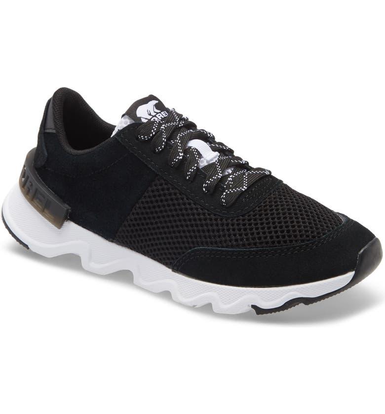 SOREL Kinetic Lite Sneaker, Main, color, BLACK SUEDE