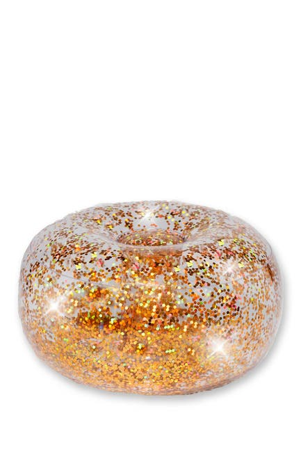 Image of POOLCANDY Clear/Gold Glitter BloChair Ottoman