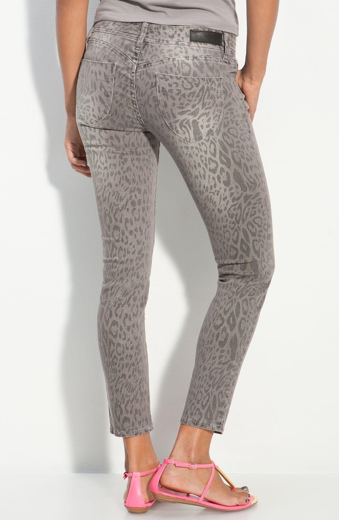 Animal Print Skinny Jeans, Main, color, 020