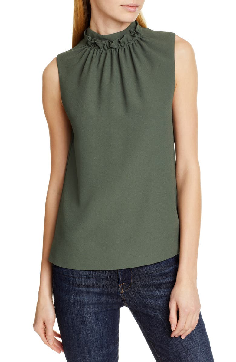 TED BAKER LONDON Audrye Ruffle Sleeveless Top, Main, color, 250