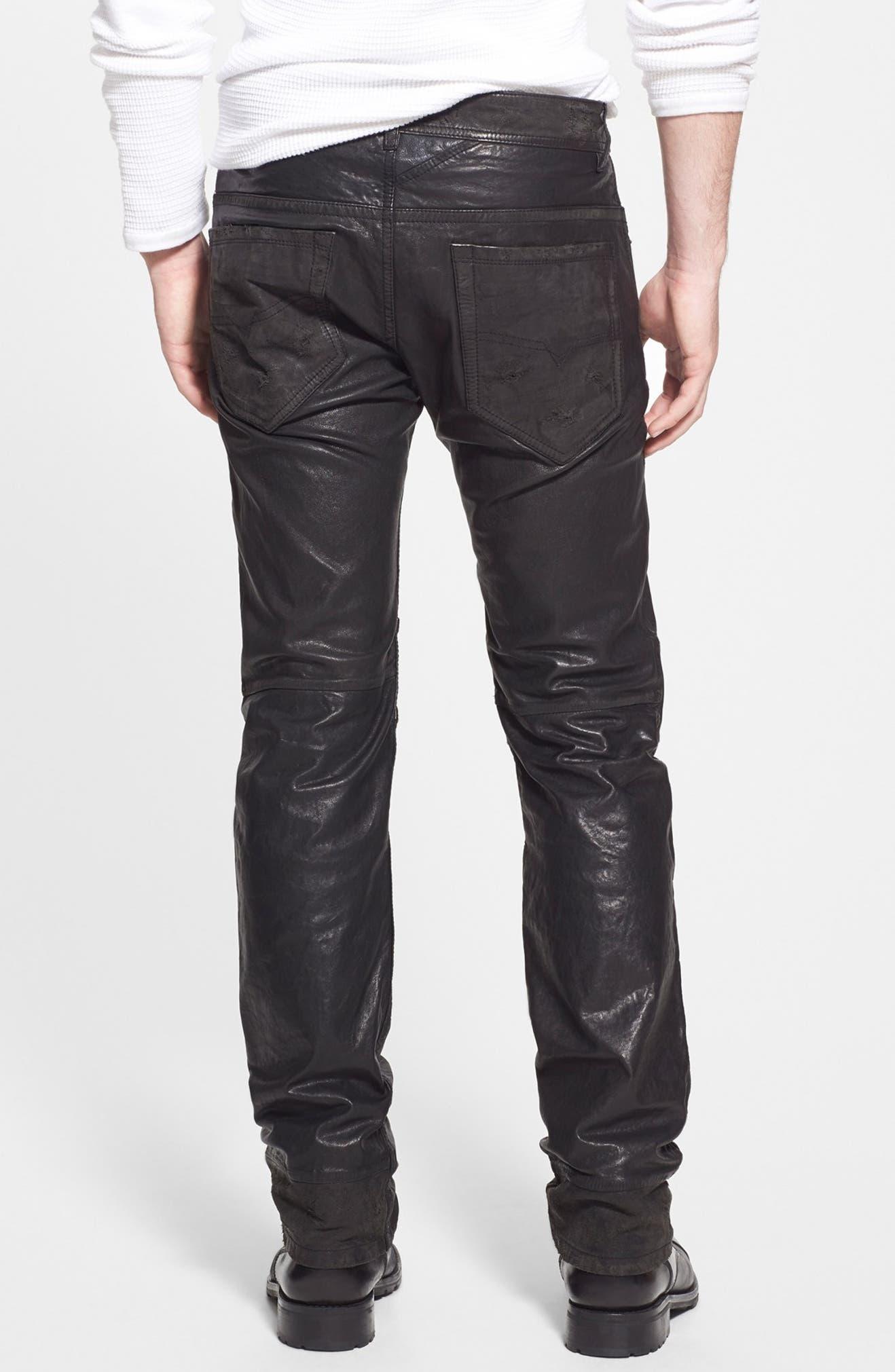 2d413a66 DIESEL® 'Thavar' Skinny Fit Leather Pants | Nordstrom