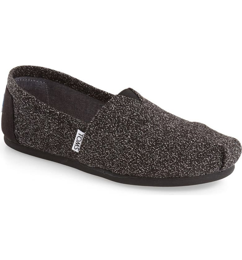 TOMS 'Classic' Marl Slip-On, Main, color, 001