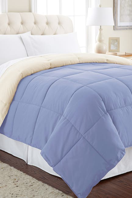 Image of Modern Threads Down Alternative Reversible King Comforter - Eclipse/Silver