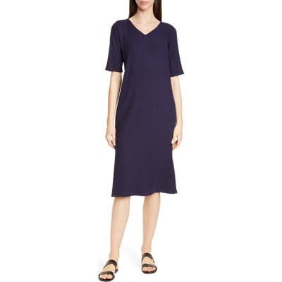 Eileen Fisher Stretch Tencel Lyocell Shift Dress, Blue
