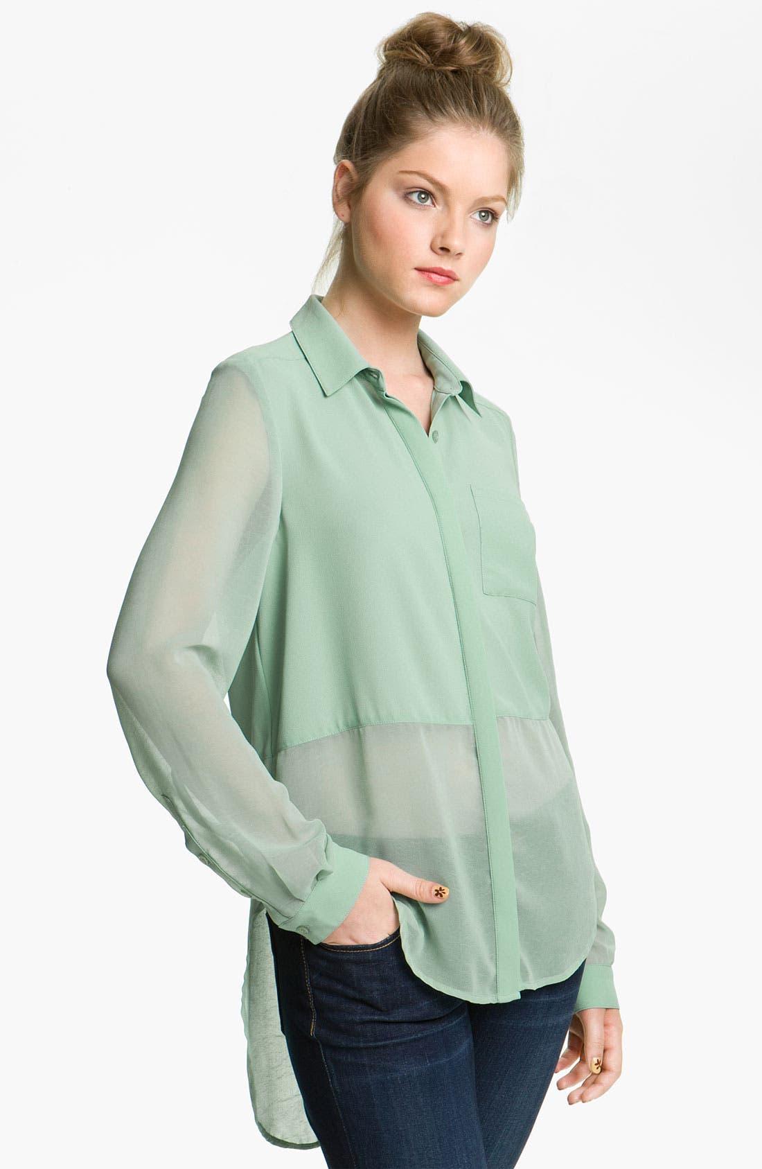 ,                             Lush Sheer Panel High/Low Shirt,                             Main thumbnail 9, color,                             445