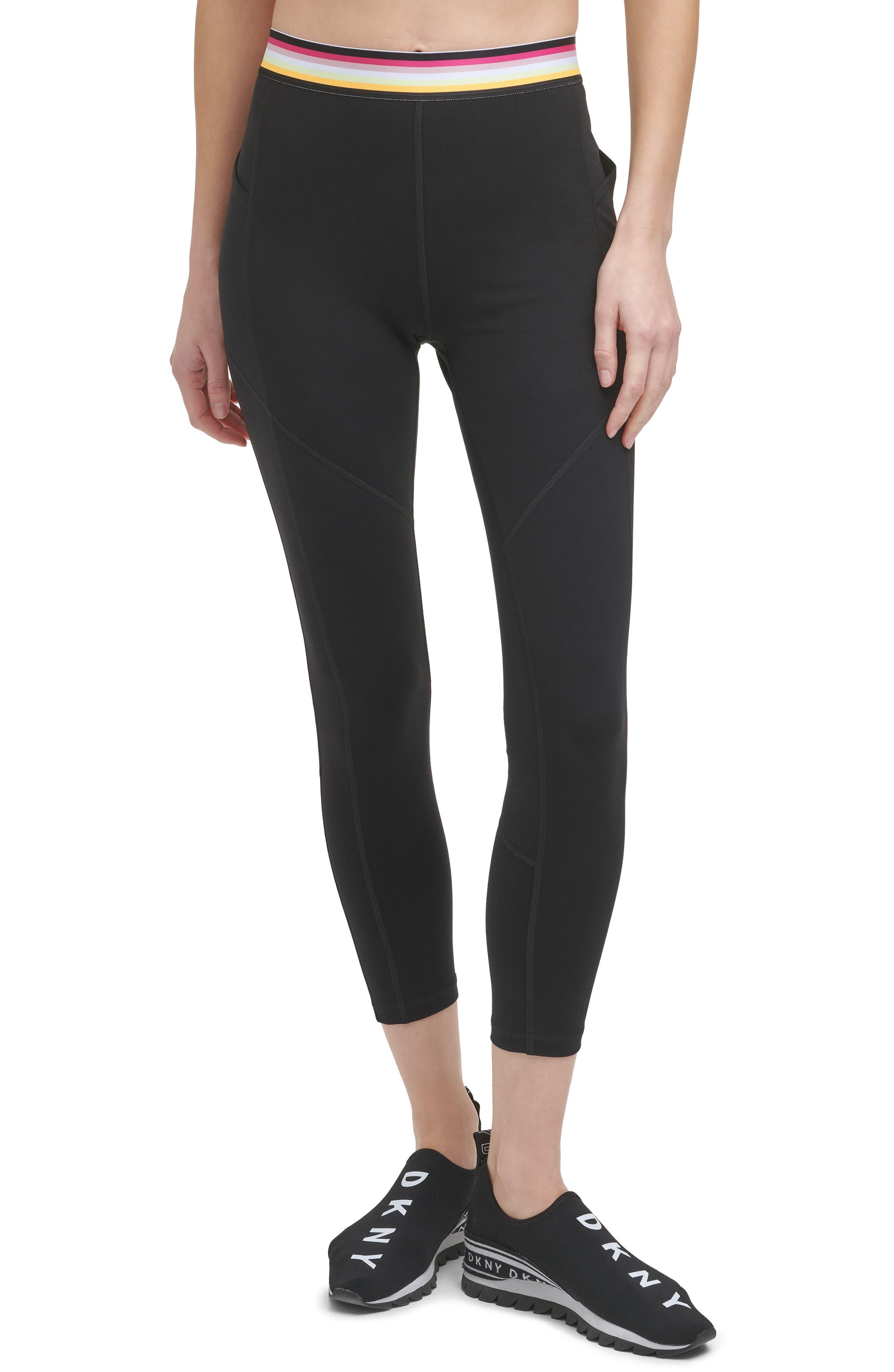 Women's Dkny Multi Stripe High Waist Leggings