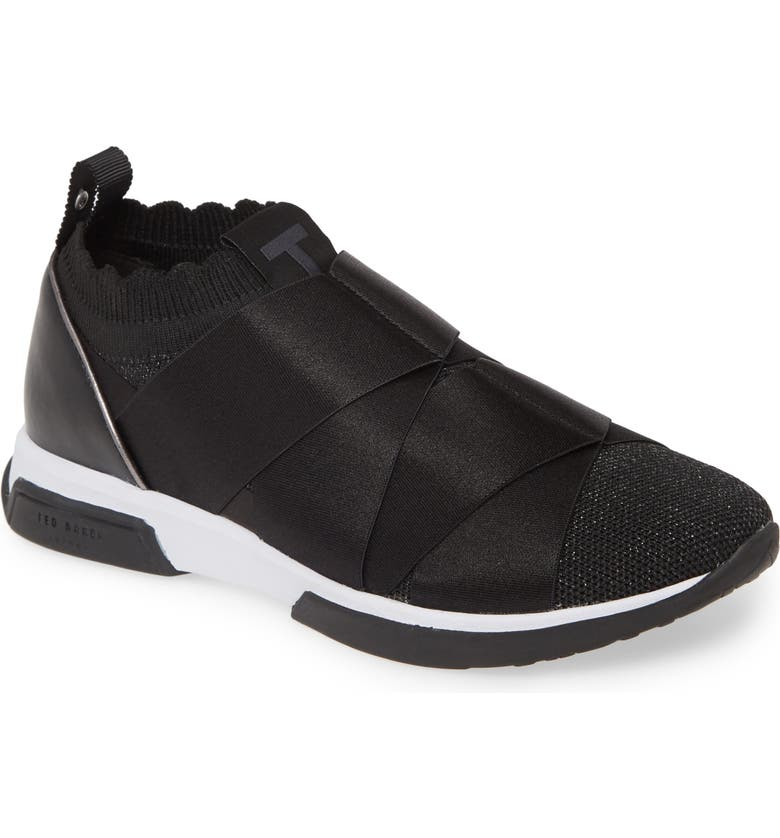 TED BAKER LONDON Queana Sneaker, Main, color, BLACK TEXTILE
