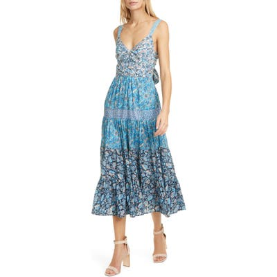La Vie Rebecca Taylor Mix Floral Print Sundress, Blue