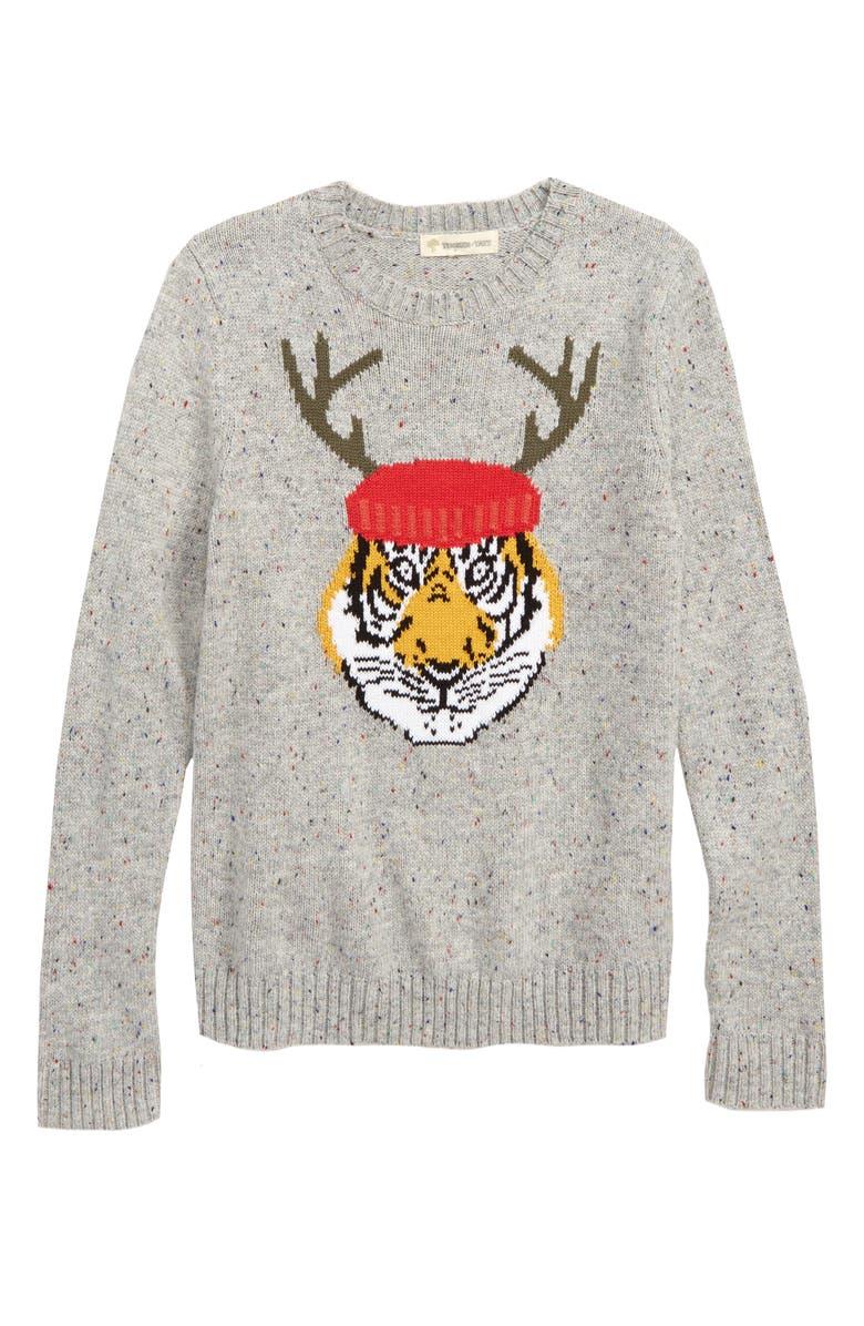 TUCKER + TATE Intarsia Knit Sweater, Main, color, 050