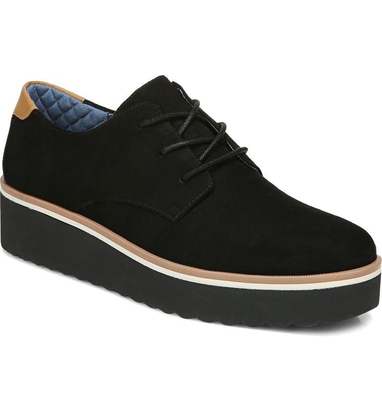 DR. SCHOLL'S Lillian Platform Lace-Up Shoe, Main, color, BLACK