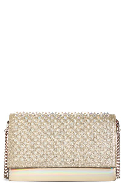 72acf3e36a Christian Louboutin Mini Paloma Studded Clutch - Ivory | ModeSens
