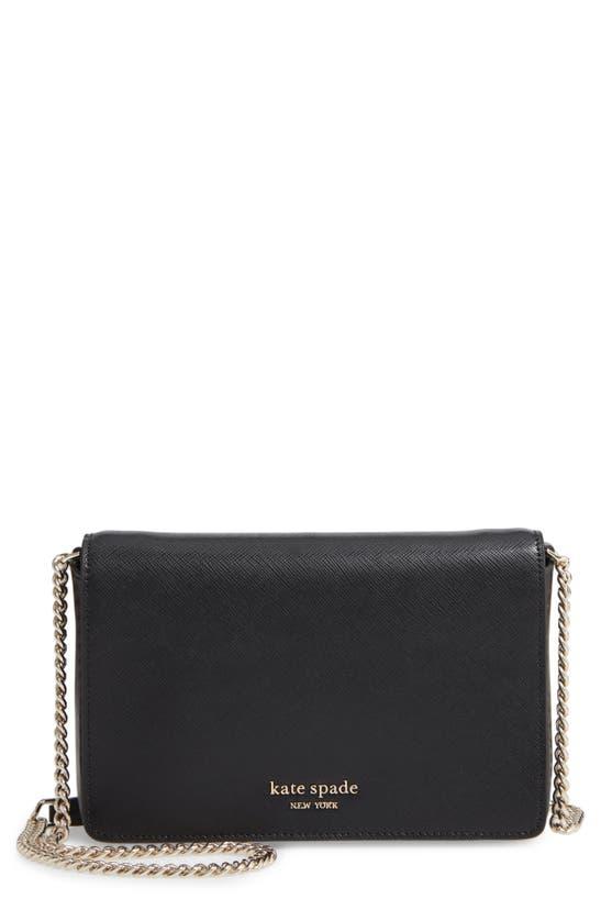 Kate Spade Women's Spencer Leather Wallet-on-chain In Warm Beige/ Black