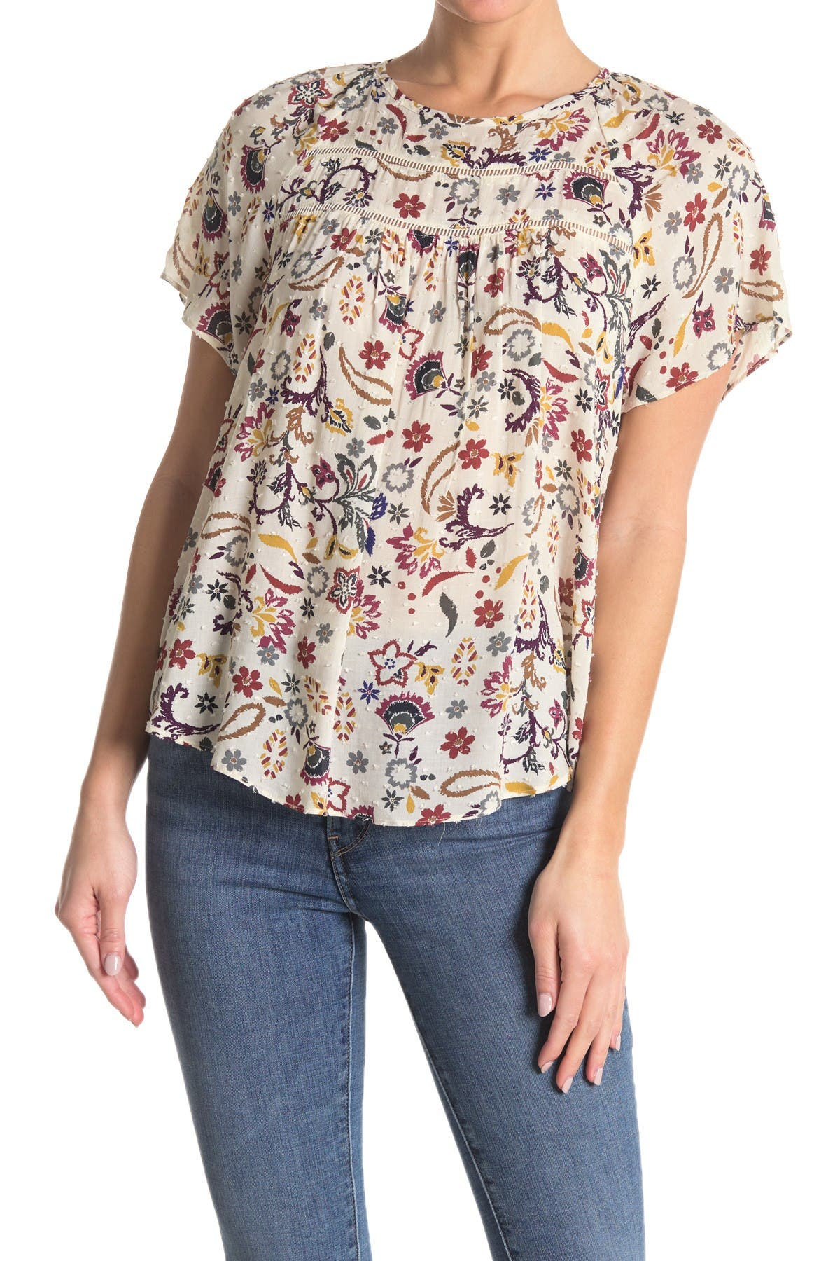 Image of Everleigh Printed Raglan Sleeve Top
