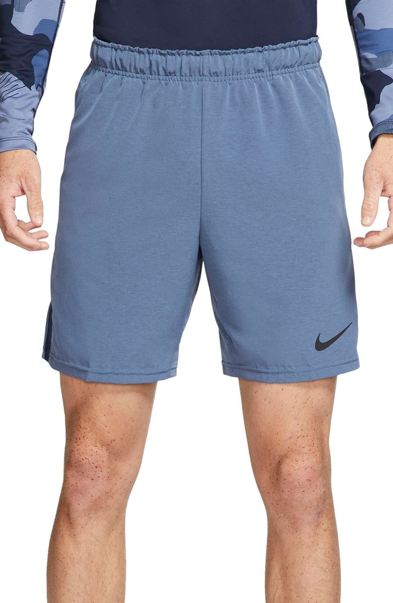NIKE Flex Training Shorts, Main, color, OBSIDIAN/ HEATHER/ BLACK