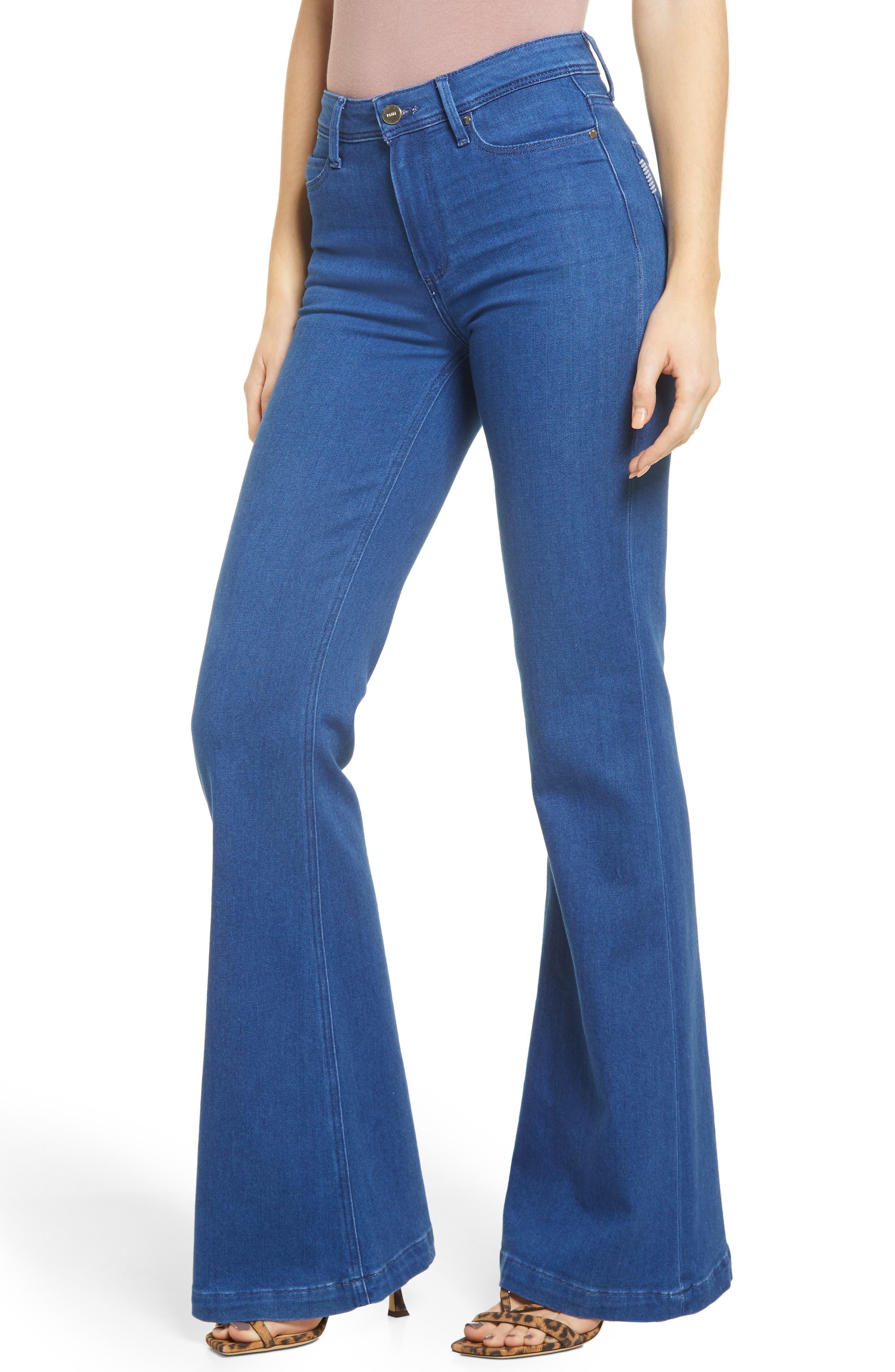 Women's Paige Genevieve High Waist Wide Leg Jeans