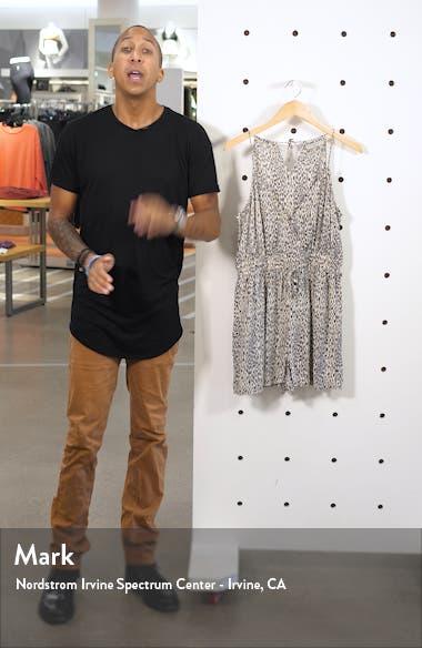 Maya Leopard Print Romper, sales video thumbnail