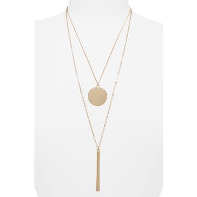 Bp. Long Double Layer Coin & Bar Necklace