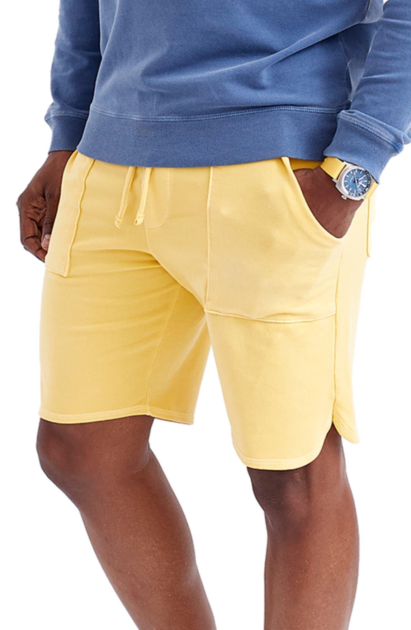 Sun Faded Micro Terry Cloth Scallop Shorts