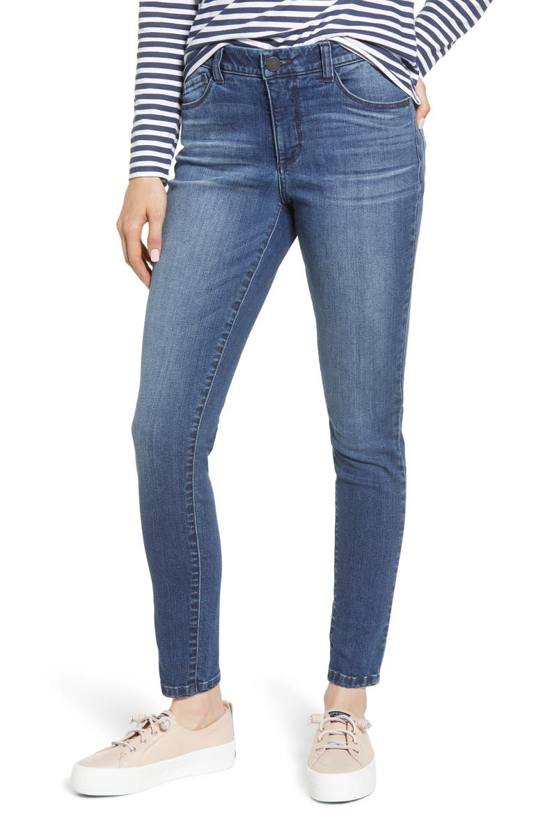 WIT & WISDOM Ab-solution High Waist Denim Leggings, Main, color, BLUE
