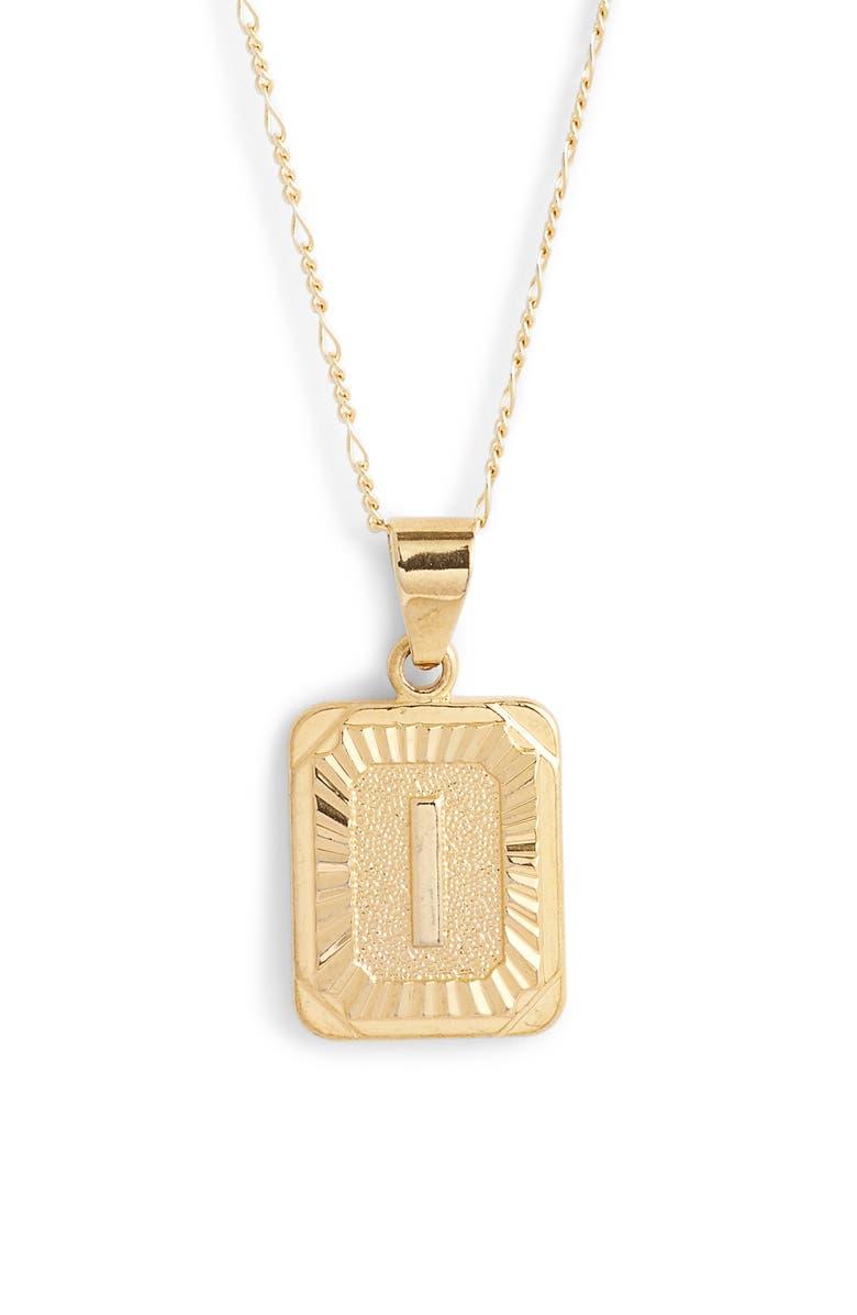 BRACHA Initial Pendant Necklace, Main, color, GOLD-I