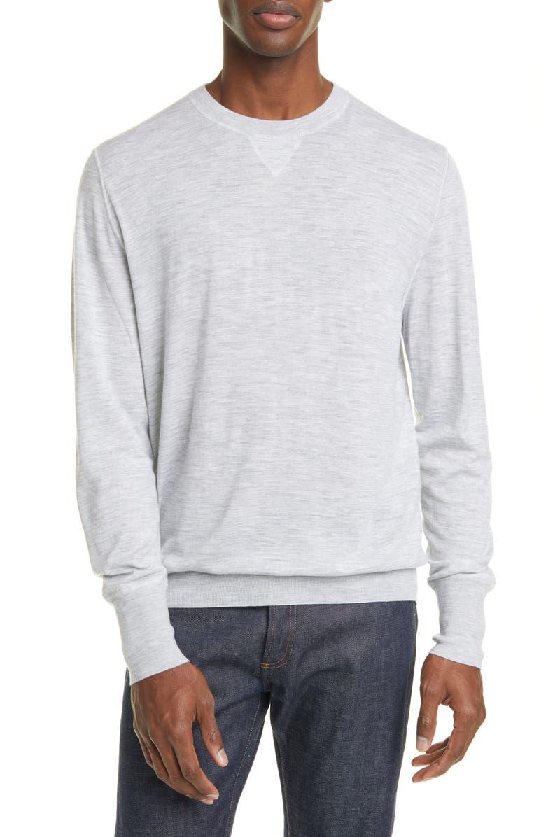 ELEVENTY Merino Wool Crewneck Sweater, Main, color, 051