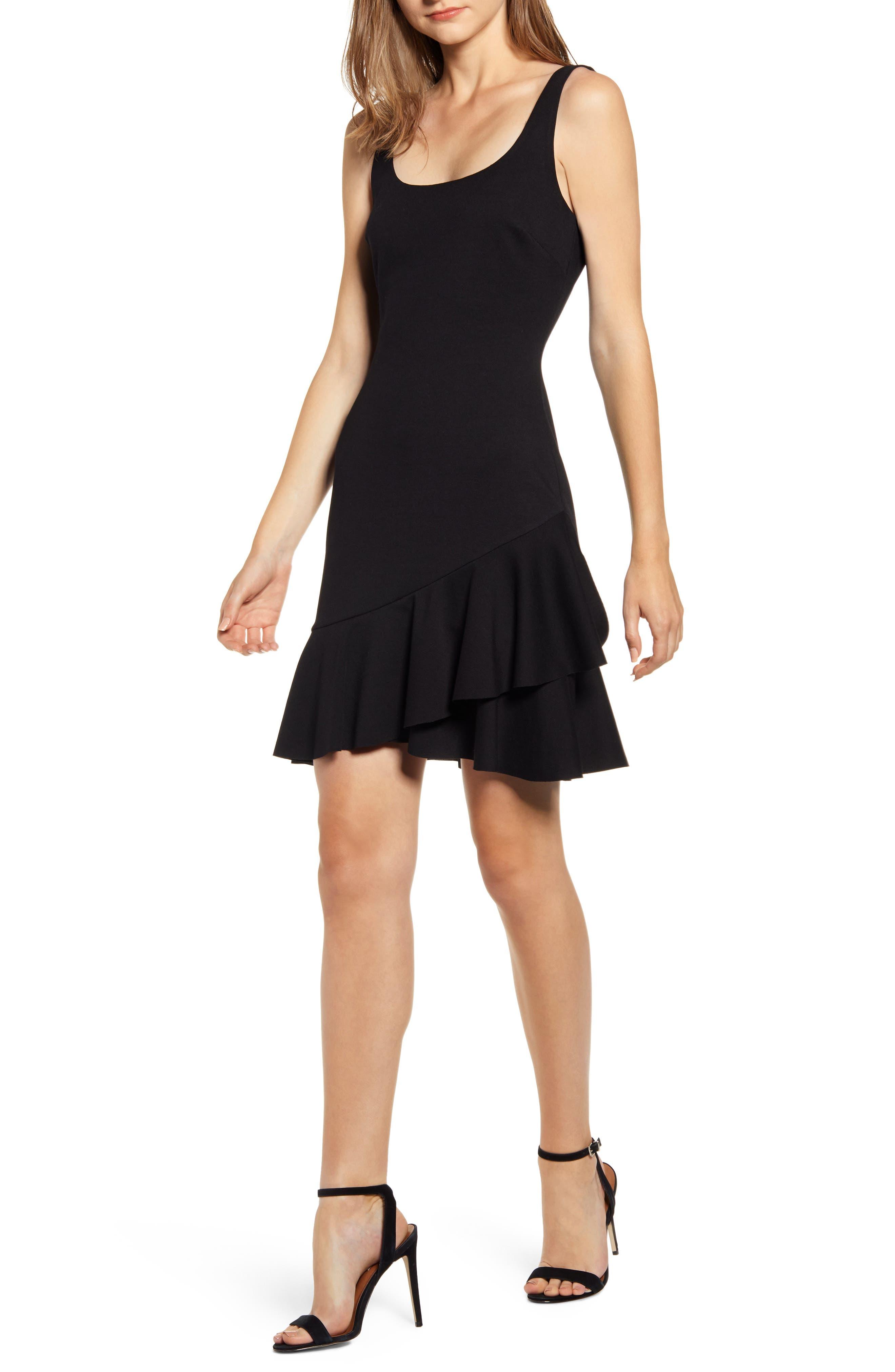Bailey 44 Malinda Ruffle Hem Tank Dress, Black