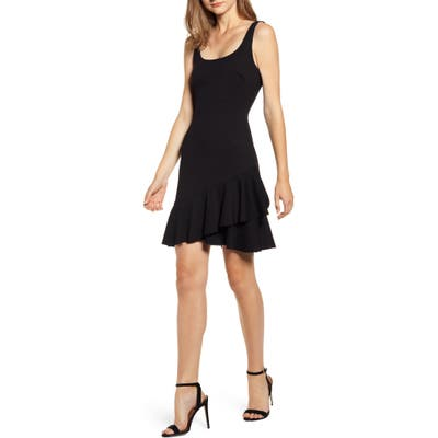 Bailey 44 Malinda Ruffle Hem Tank Dress, Black