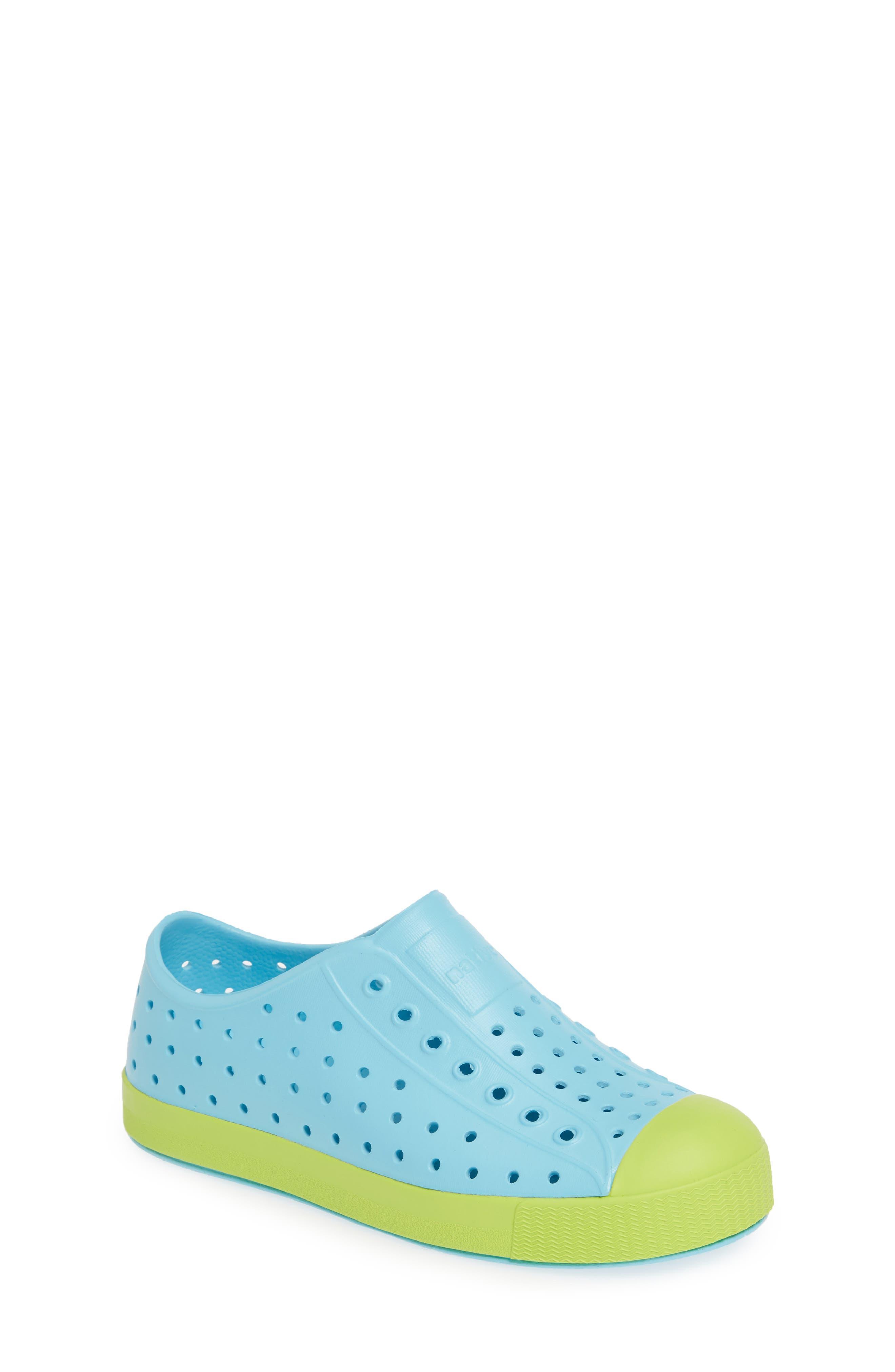 e49cd530528a Kid's Native Shoes Jefferson Water Friendly Slip-On Vegan Sneaker, Blue