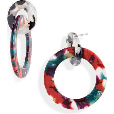 Madewell Acetate Double Hoop Earrings