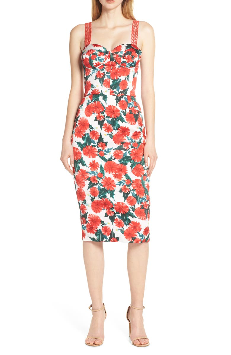 BRONX AND BANCO Ruby Sleeveless Pencil Dress, Main, color, 600
