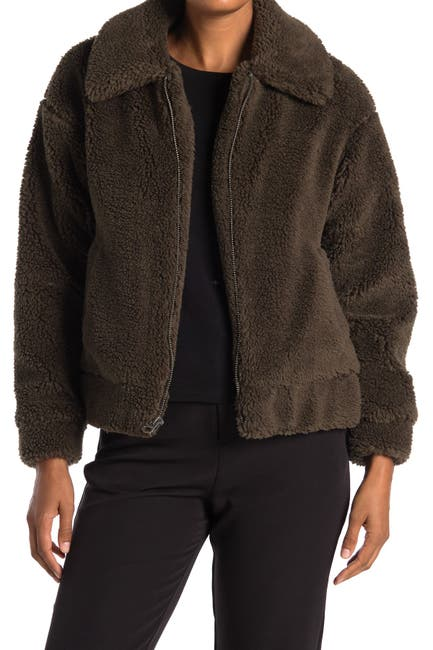 Image of Lucky Brand Short Faux Teddy Fur Jacket