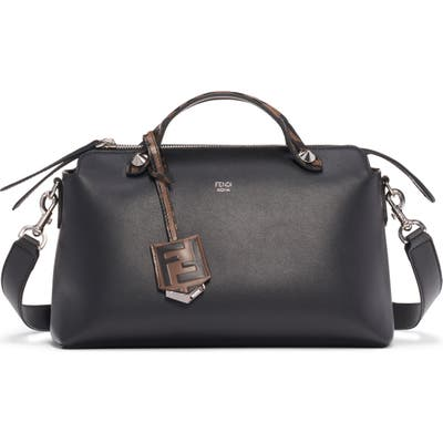 Fendi Medium By The Way Leather Shoulder Bag - Black